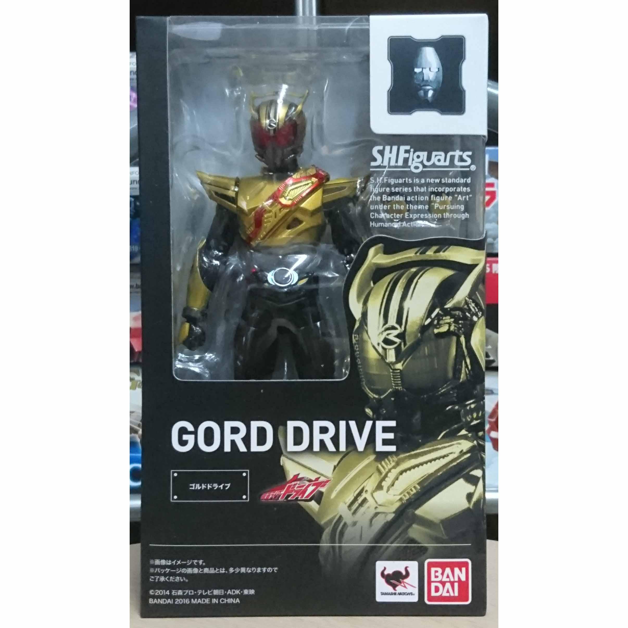 SHF S.H.Figuarts 假面騎士 Gold Drive,益祥模型玩具 外盒實際拍攝照片。