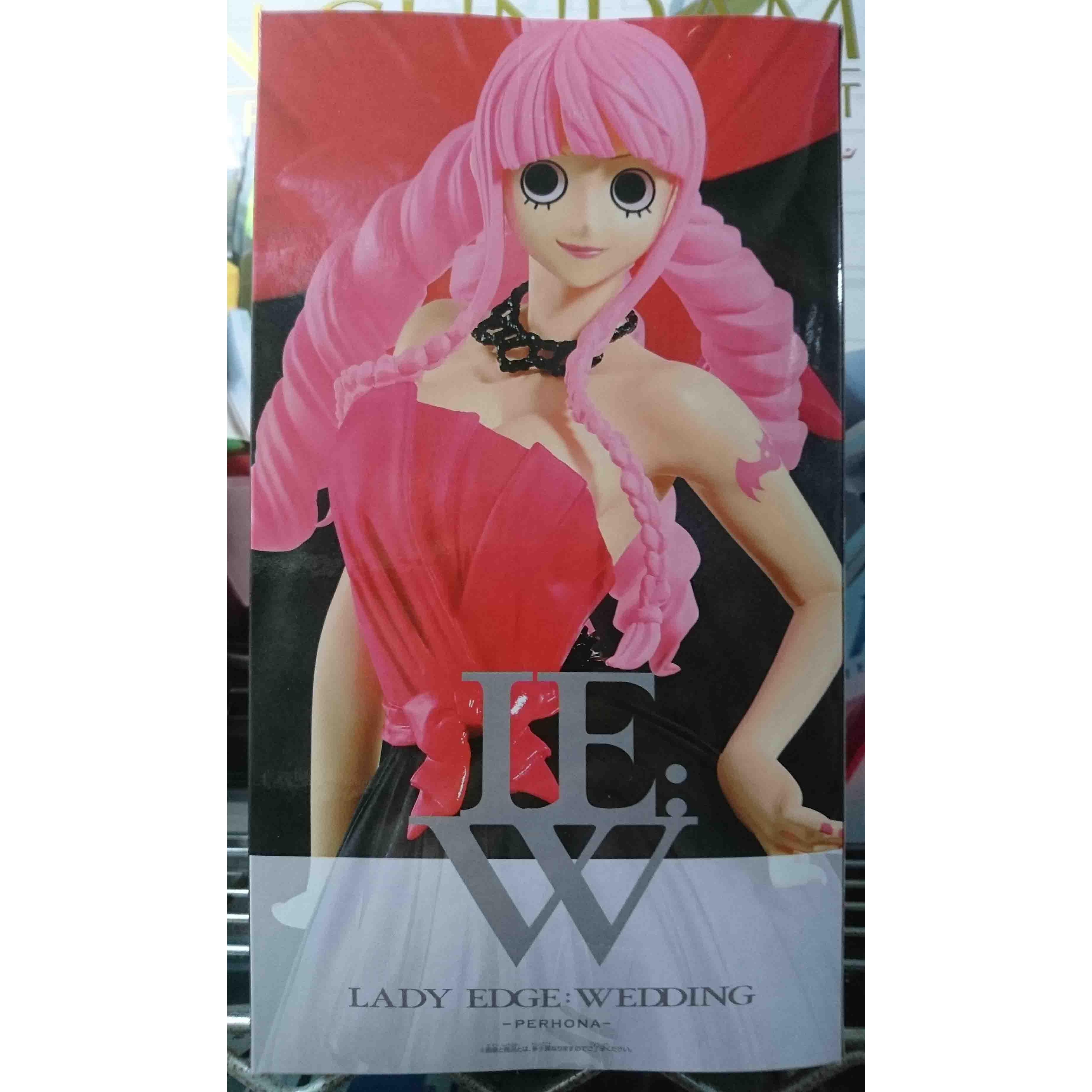 景品婚紗版黑紅顏色培羅娜,益祥模型玩具外盒實拍照。