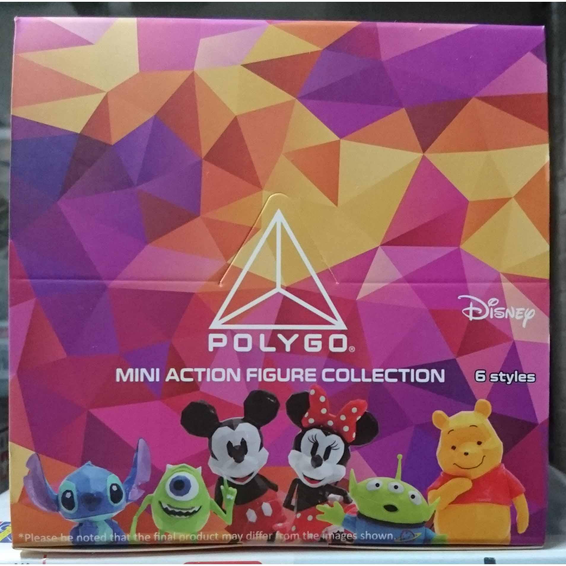POLYGO 迪士尼 迷你可動公仔系列,益祥模型玩具外盒實拍。
