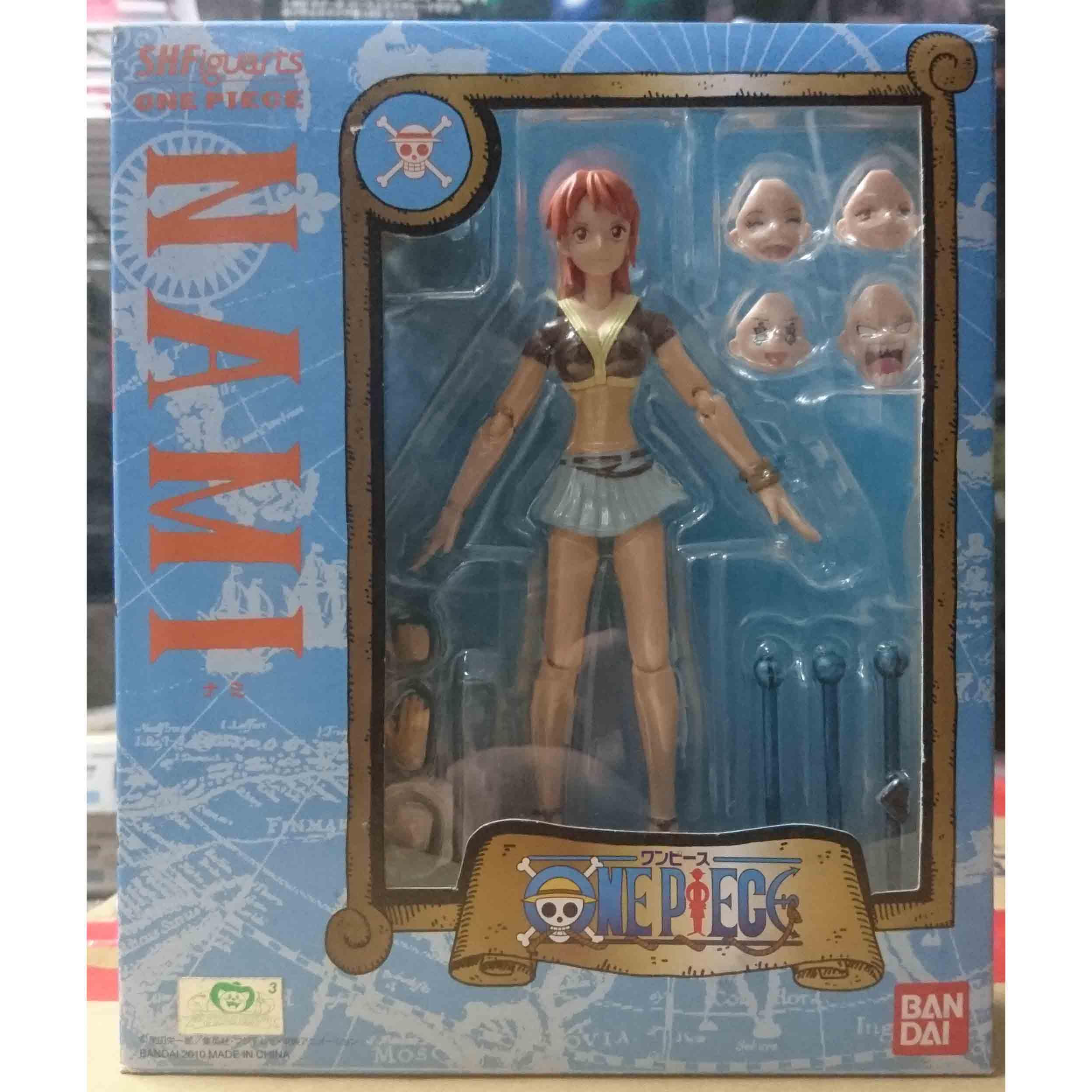 S.H.Figuarts SHF 海賊王 航海王 娜美,益祥模型玩具外盒實拍照片。