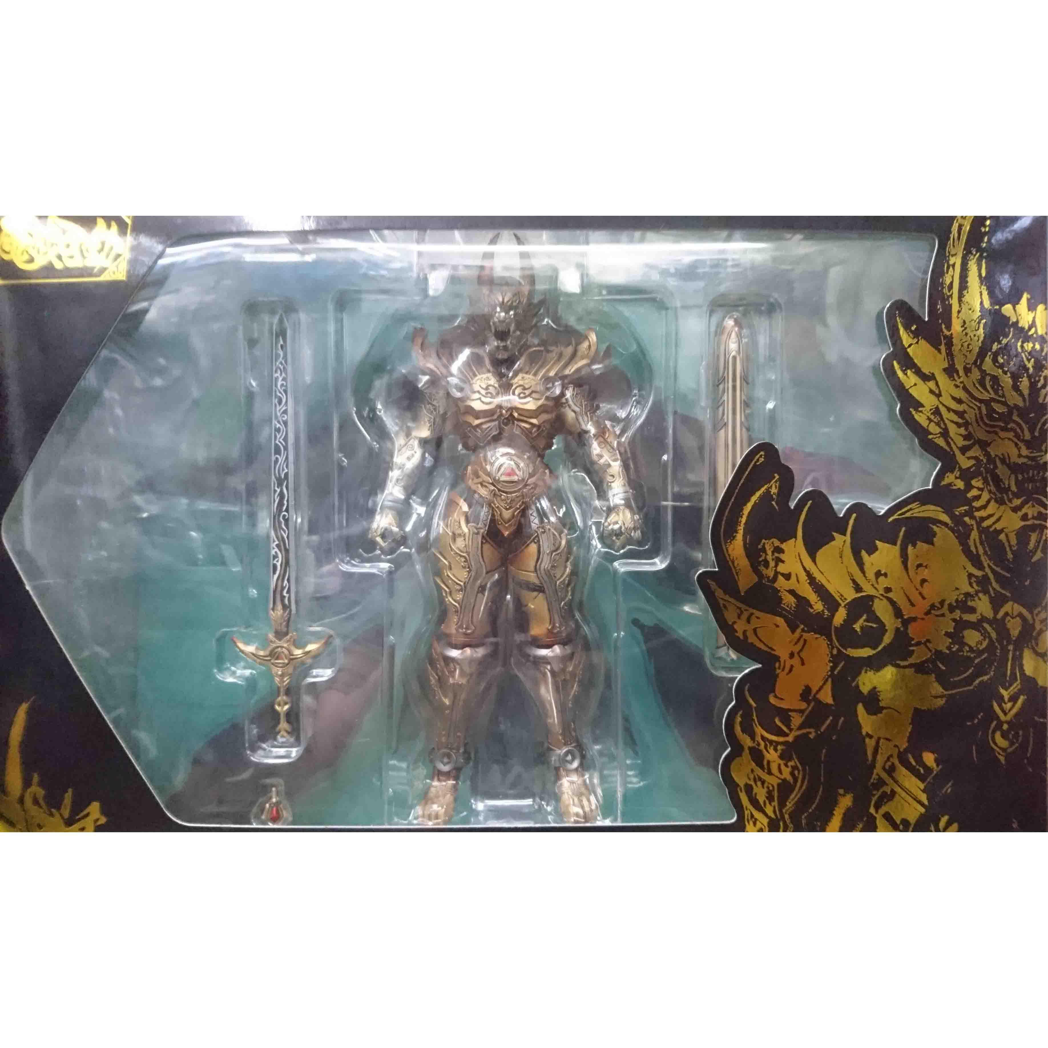 魔戒可動 黃金騎士 牙狼 GARO(冴島鋼牙),益祥模型玩具 外盒實際拍攝照片。