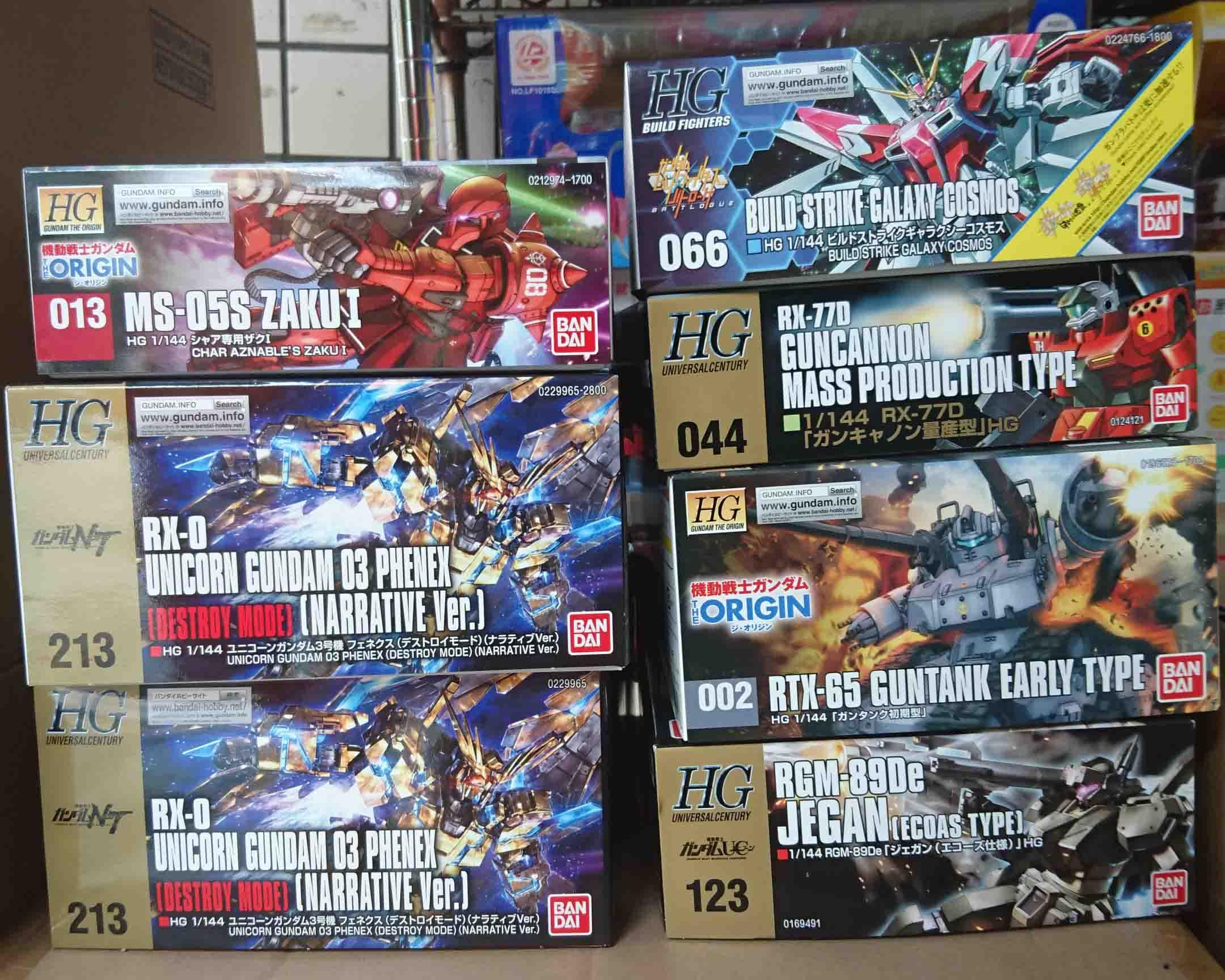 萬代組裝模型,HG 1/144 鋼彈系列到貨,益祥模型玩具實拍照片。