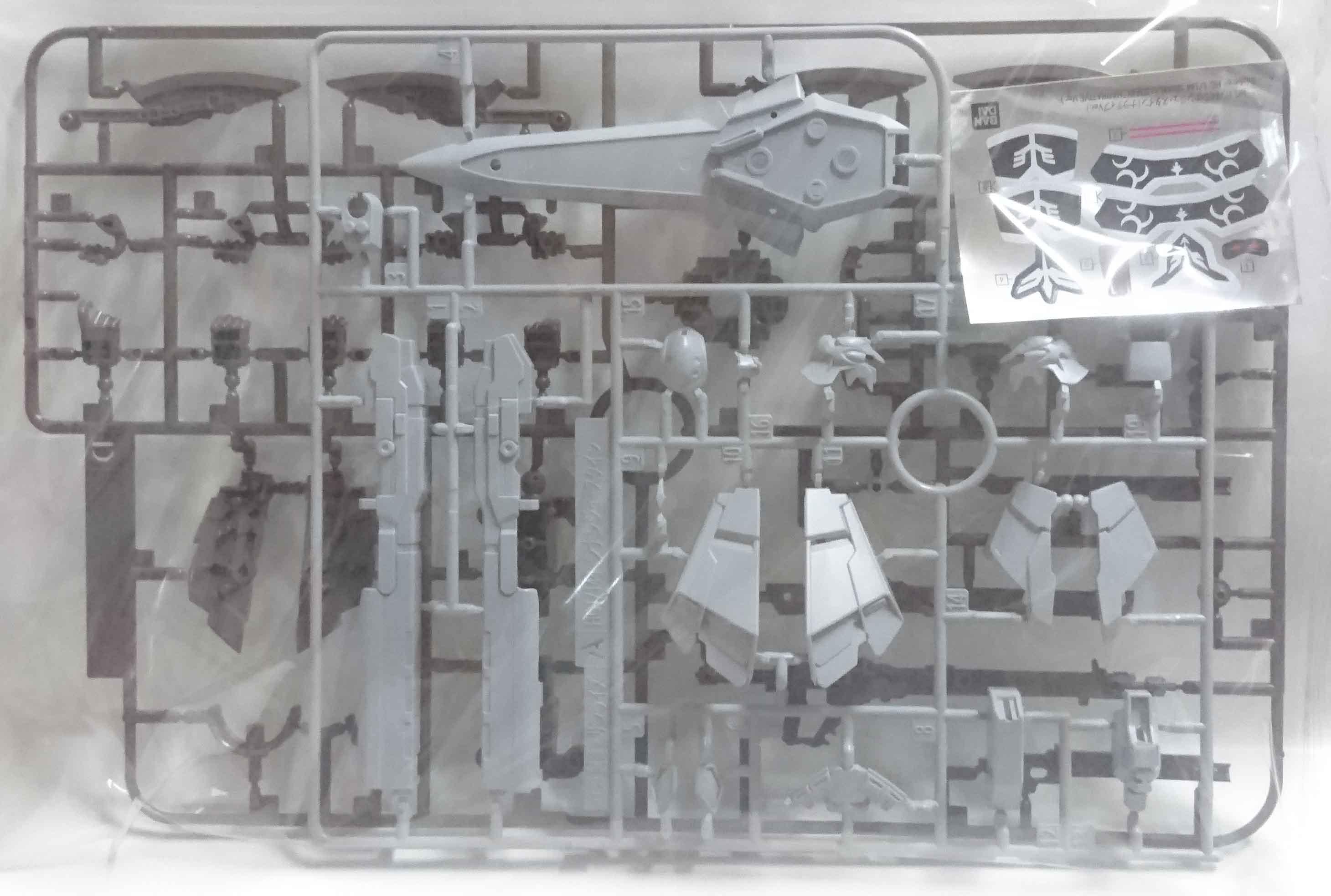 HGUC 1/144 新安州原石型 (NARRATIVE Ver.) ,益祥模型玩具 零件 實際拍攝照片。