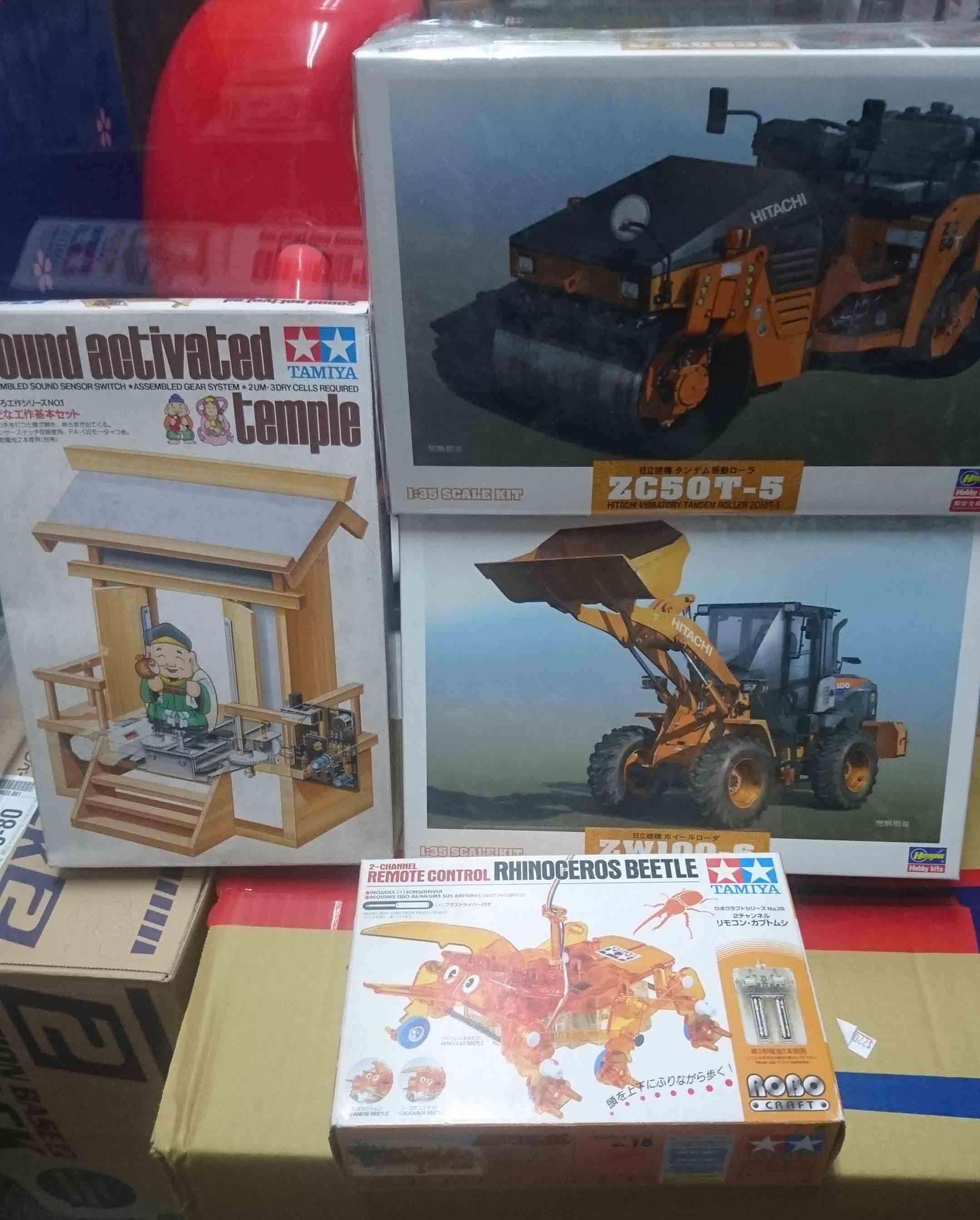 工程用車、機械類模型,益祥模型玩具實拍照片。